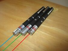 3 Powerful Blue, Green, Red Lasers 5mW Power 405nm 532nm 605nm Gifts Christmas