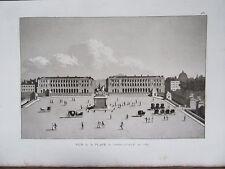 GRAVURE 1839 PARIS VUE DE LA PLACE LOUIS XV EN 1789 OU PLACE DE LA CONCORDE