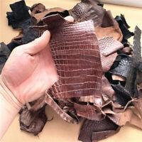 Genuine Crocodile Skin Leather Hide Pelt Scraps 1000 Gram Mix Color Free Ship