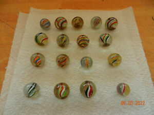 collection of antique german glass marbles
