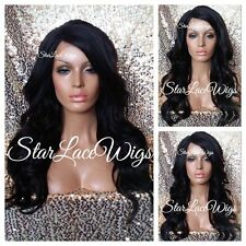 Synthetic Lace Front Wig Wigs For Women Curly Wavy Long Brown #2 Side Part Heat