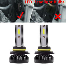 2x 9012 HIR2 72W 6000K LED Headlight Bulb High/Low Beam Kit 360° View Angle Tool