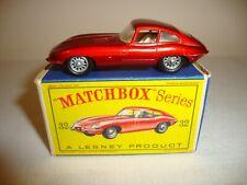LESNEY MATCHBOX 1-75 32B 'E' TYPE JAGUAR - NR MINT in original D BOX