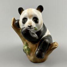 Herend Guild Panda Bear Figurine 2002 Smithsonian Signed Bak Zsolt Natural Color