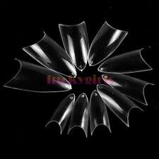 500 Pcs Sharp Clear Nail Tips UV Gel False French Acrylic Nail Art Decor