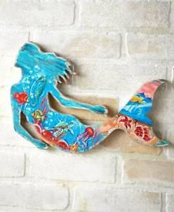 Mermaid Wooden Wall Art Décor. House Beach Mystical Nautical Coastal Ocean Décor