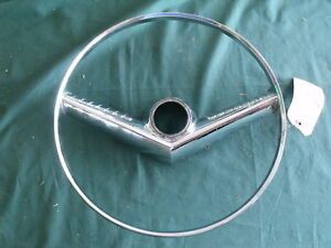 1955 Mercury Accessory Steering Wheel Horn Ring 55 FDK-3624-E