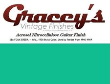 -Seafoam Green- Gracey's Vintage Finishes Nitrocellulose Guitar Lacquer Aerosol.