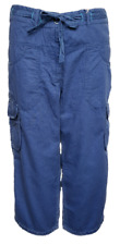 WOMEN`S NEW FILA CROPPED CAPRI TROUSERS UK 8-10 (S) CASUAL CARGO PANTS - RRP £40