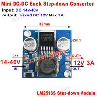 3A DC-DC Buck Step Down Volt Regulator 15V-40V 18V 24V 36V to 12V Mini Converter