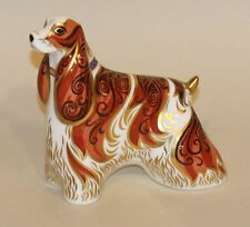 2004 Royal Crown Derby Imari Gold Stopper Paperweight American Spaniel Dog