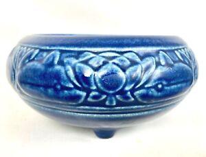 """ROOKWOOD 6 1/4"""" WATER LILY Art & Crafts BLUE MOLD #1351 DESIGNER SHIRAYAMADANI"""