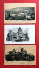 3 x AK PRAG 1899 Die Kleinseite, Museum und der Hradschin   ( 41198