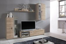 FOX natural oak finish mdf tv entertainment unit/stand - scandinavian design