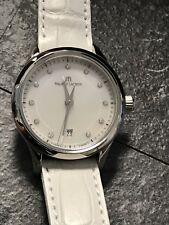 Maurice Lacroix Les Classifies Mop Dial Date Quartz watch, Silver, 28mm, Leather