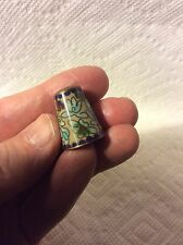 OLD SEWING- CLOISONNE FLOWER PATTERN THIMBLE