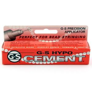 NEW  G-S Hypo Cement 1/3 fl. oz. (9ml) tube