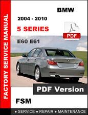 BMW 5 SERIES 2004 2005 2006 2007 2008 2009 2010 E60 E61 REPAIR FACTORY MANUAL