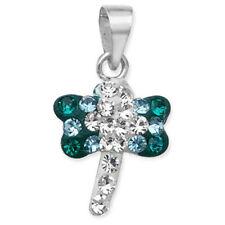 Collares y colgantes de bisutería de cristal de cristal de color principal azul