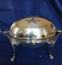 Antique Ornate Fenton Brothers Silver Domed Breakfast Warmer 6380 ~ England