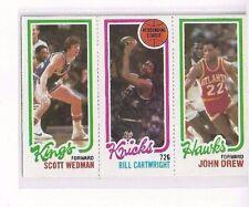 1980-81 TOPPS #42 - #131 SCOTT WEDMAN / #164 BILL CARTWRIGHT TL / #23 JOHN DREW