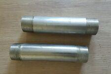 Lot de 2 Mamelon inox tube mâle en acier inoxydable 1'' L140 - bobine à visser