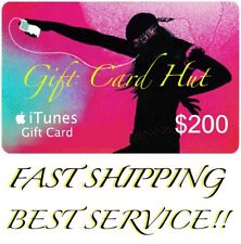 Apple $200 iTunes US Gift Card Karte Voucher Certificate USA USD 100% Genuine