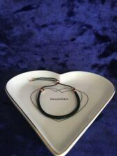 Pandora Moments Leather & Rose Gold Slider Bracelet (Gift Sets Available)