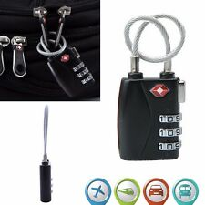 TSA Password Lock Security Padlock Cable Travel Suitcase Luggage Combination