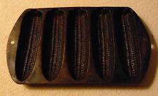 "Vintage 5 EAR CAST IRON CORNBREAD PAN - 9"" x 5.5"""