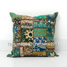 """Indian Cotton Cushion Covers Patchwork Embroidered Pillowcases Vintage Throw 16"""""""