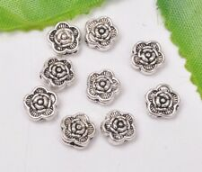 40pcs Tibetan silver Double sided floower bead loose spacer beads 7mm A3099