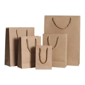 48pk Kraft Paper Bags Bulk Brown Carry Bags Gift Bags
