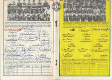 GAA 1978 All Ireland Hurling Final Cork Kilkenny * 2 WITH FULL *CORK* AUTOGRAPHS