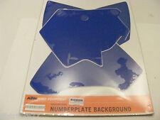 stickers fond de plaque numéro bleu  KTM  EXC 05-07 SX 05-06 ref :5480808820068