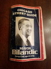 VINTAGE L LINES MAP OF CHICAGO, IL STREET GUIDE Bilandic Mayor Democrat Politics