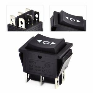 interrupteur a bascule 6 Pin 3 positions DPDT ON OFF AC 250V 16A Rocker Switch