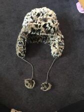 Miss Selfridge Leopard Print Fur Hat
