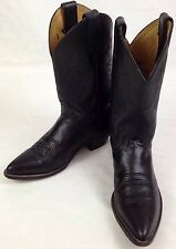 Justin Womens Leather Western Cowboy Boots 8 B Black Roper Rodeo Style USA L4903