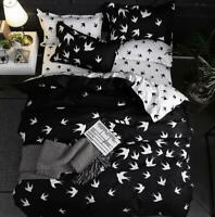 3D Black And White Swallow KEP5084 Bed Pillowcases Quilt Duvet Cover Kay