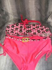 NEW Girls 2pc Swimsuit by 2B Real, Size 14/16, Pink Floral,NEW