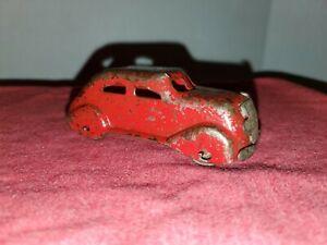 Vintage Marx WYANDOTTE Toys Pressed Steel Red Sedan