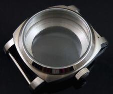 stainless steel 44mm watch Case fit eta 6497 6498 ST36 HAMILTON 917 921 movement