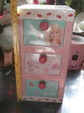 """Barbie Tin Box Metal Dresser Style Storage 10"""" x 5"""" x 5"""""""