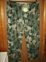 NEW MEN'S STAFFORD MICROFLEECE DRAWSTRING PAJAMA PANTS SZ 2XL CAMO DEER BEAR
