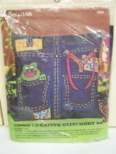 Coats & Clark #5824 Crewel Creative Stitchery Pillow Kit JEANS New