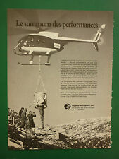 6/1982 PUB HUGHES HELICOPTERS HUGHES 500D HELICOPTERE ORIGINAL FRENCH AD