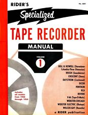 Riders Specialized Tape Recorder Manual Volume 1 * CDROM * PDF