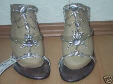 Designer Sandalette NEU Gr. 41 silbern super edel mit Strasssteinchen versehen