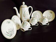 """Antique (1930 S) Copeland Spode """"Oklahoma"""" Harold Holdway porcelaine café set"""